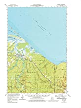 YellowMaps Odanah WI topo map, 1:62500 Scale, 15 X 15 Minute, Historical, 1964, Updated 1980, 22.25 x 18.35 in