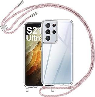 AROYI Telefoonhoesje voor mobiele telefoon, compatibel met Samsung Galaxy S21 Ultra, transparante siliconen beschermhoes, ...