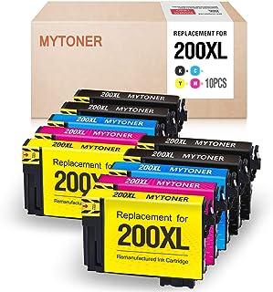 MYTONER Remanufactured Ink Cartridge Replacement for Epson 200XL 200 XL T200XL ink for XP-200 XP-300 XP-310 XP-400 XP-410 WF-2520 WF-2530 WF-2540 printer(4 Black, 2 Cyan, 2 Magenta, 2 Yellow, 10-Pack)