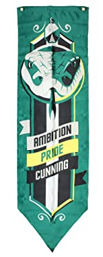 Seven Times Six Harry Potter Hogwarts Houses Ambition, Pride, Cunning Motto Wall Banners - Slytherin