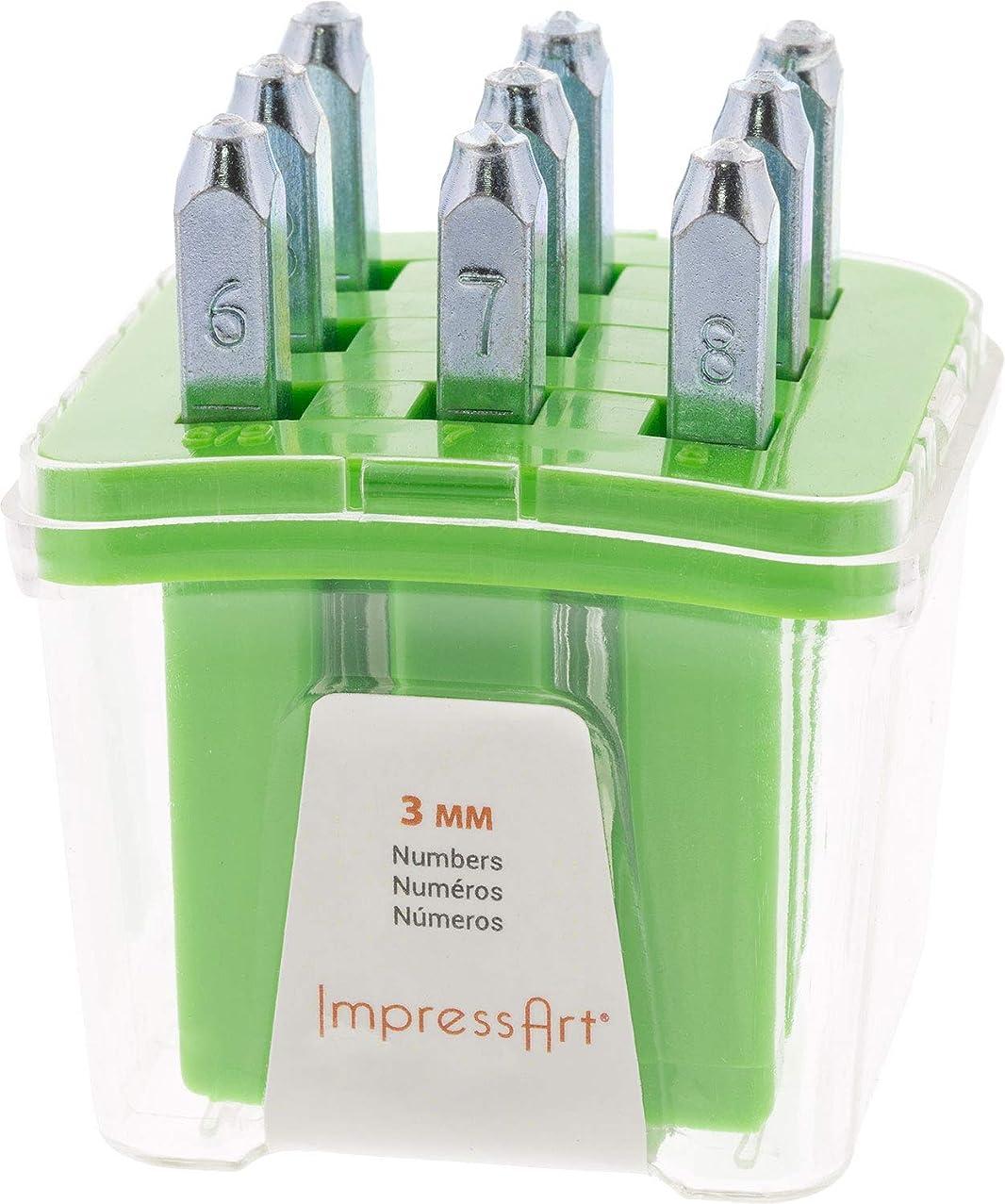 ImpressArt Premium- Newsprint Numbers Metal Stamps