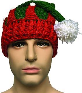4697768f689 Kafeimali Unisex Christmas Tree Knitted Crochet Beanie Santa Hat Bearded  Caps