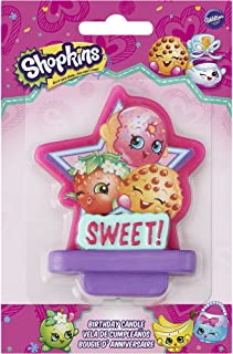Shopkins 2811-7116 Birthday Candle, Assorted