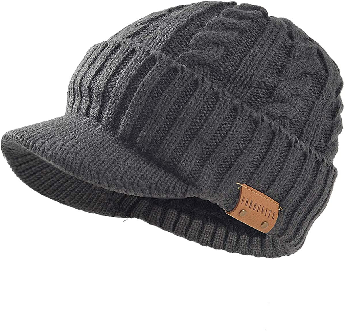 FORBUSITE Men ! Super beauty product restock quality top! Knit Beanie Visor Cap for Women Winter Beani Thick Cheap super special price
