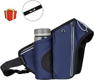 AEETT Running Belt for Phone Fanny Pack with Water Bottle Holder Workout Belt for Men Women