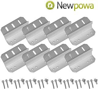 Newpowa 2sets Solar Panel Mounting Bracket Universal Flat Mounts Z Roof Wall