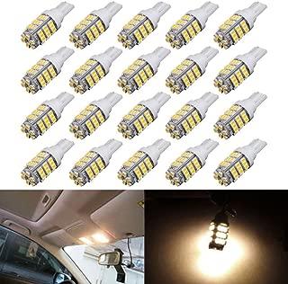 AUTOUS90 20 x RV Trailer T10 921 194 168 2825 42-SMD 12V Backup Reverse LED Warm White Lights Bulbs