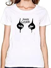Danielrio Womens Soft Cotton Alice Cooper Eyes Makeup Logo T-Shirt