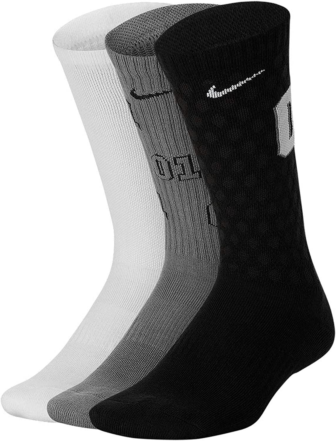 Nike Boy`s Everyday Cushioned Crew Graphic Socks 3 Pack