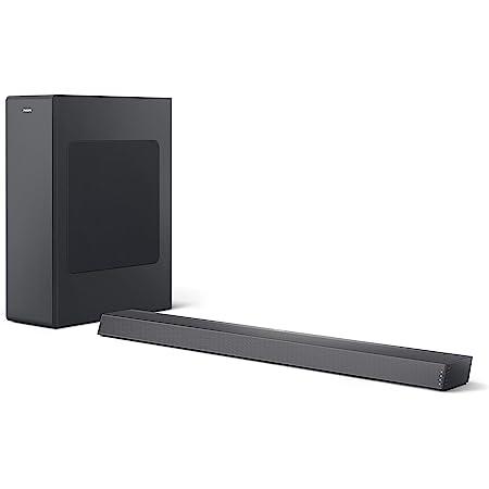 Philips B6305/10 Barra de Sonido TV con Subwoofer Inalámbrico (2.1 Canales, 140 W de Potencia, Bluetooth, Dolby Audio, HDMI ARC, Diseño Ultrafino con Soporte Montaje en Pared) Modelo 2020/2021