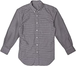 【ONESELF】リハビリメンズ シャツ 100%綿 片手で簡単着脱 ギンガム ボタンダウン 長袖シャツ