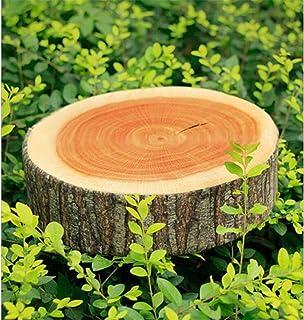 LnLyin 1 cojín de felpa suave para el hogar, jardín, camping, diseño de troncos