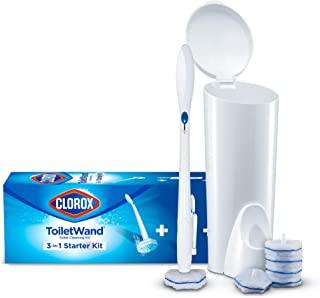Clorox 03191 Sistema di pulizia della toilette monouso con 6 teste di ricarica del bagno disinfettante, bianco / blu, conf...
