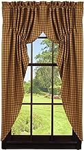 Olivia's Heartland Cambridge Mustard Prairie Curtain Set
