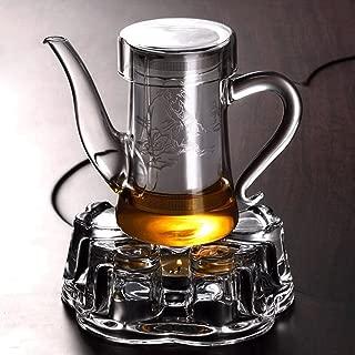 Teapots Tea Glass Filter Tea Filter Heat-resistant Stainless Steel Interior Brewing Tea Cup Red Tea Cup 280ml (teapot + Teapot Base) Tea pot