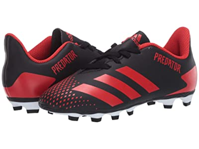 adidas Kids Predator 20.4 FxG J Soccer (Little Kid/Big Kid) (Black/Active Red) Kids Shoes