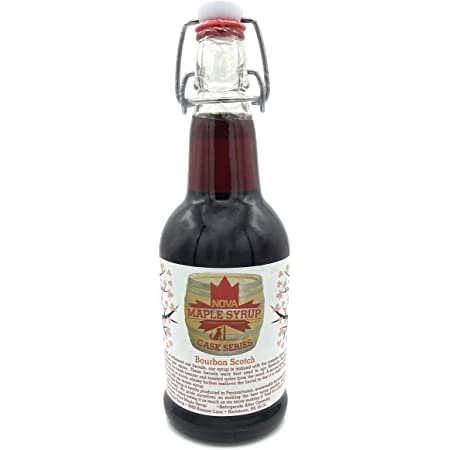 Bourbon Barrel Aged Nova Maple Syrup - Pint (16 Fl Oz) (Scotch Bourbon)