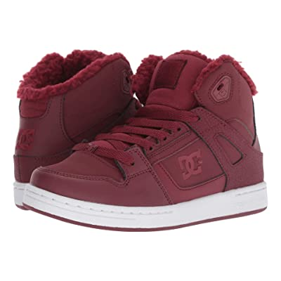 DC Kids Pure High-Top WNT (Little Kid/Big Kid) (Burgundy) Girls Shoes