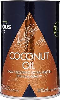 Aceite de Coco Virgen Extra Ecológico Prensado en Frío (500ml) | Sin Aromas Químicos Añadidos - No Blanqueado Artificialmente - Sin Refinar | Uso Estético, Cocina y Masajes | Certificación Bio