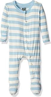 KicKee Pants Print Footie with Snaps (Newborn, Essentials Pond Stripe)