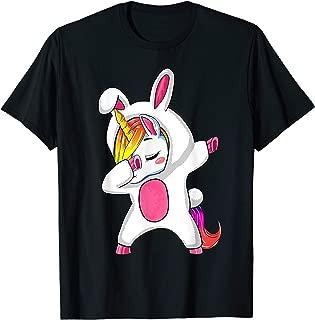 Girls Dabbing Easter Unicorn Shirt Rabbit Costume Gift Women