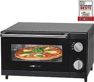 Clatronic 261708 Horno sobremesa especial para pizza, 1000 W, 12 litros