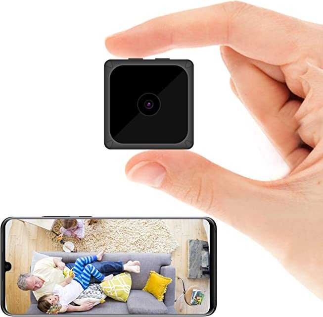 ODLICNO Mini cámara de Seguridad WiFi Inalámbrica Cámara Oculta HD 1080P Mini Cámara Secreta Cámara de niñera Grabadora de Video en Interiores Activada por Movimiento/Visión Nocturna
