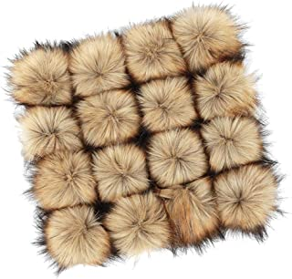 CLISPEED 16pcs Faux Fur Pom Poms Ball Pompoms DIY for Knitting Hats Clothes Keychains Scarves Bags Accessories Accessories Gift Elastic Ropes Style
