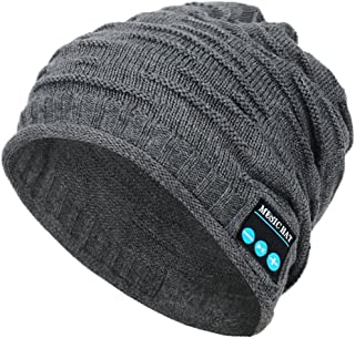 Megadream BT 4.0+EDR Wireless Washable Knitted Beanie Headwear Music Cap with Headphone, Speaker and Hands-Free Microphone...