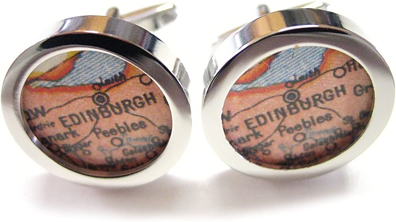 Edinburgh Map Cufflinks