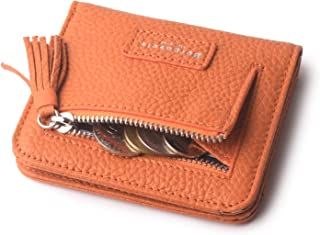 Womens Rfid Blocking Small Compact Bifold Luxury Genuine Leather Pocket Wallet Ladies Mini Coin Purse with ID Window