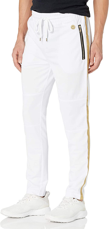 Men Stripe Point Tracksuit Bottom Jogger Running Pants Sweatpants Trousers W026