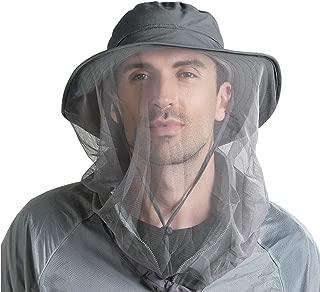 FALETO Outdoor Mosquito Head Net Hat Safari Hat Sun Hat Bucket Hats with Hidden Net Mesh Protection for Men & Women Outdoor