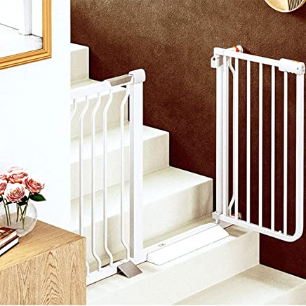 LELEGuardrail Adjustable Punch Free Baby Pet Safety Gates Pressure Mount Metal Isolation Barrier For Indoor Bottom Top Stairs Doorways Fence  Color High78 width  Size 202-209cm