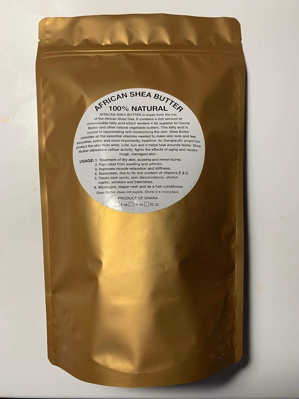 Shea Butter ivory 1 LB Natural 100% non-GMO handmade from Ghana, fresh