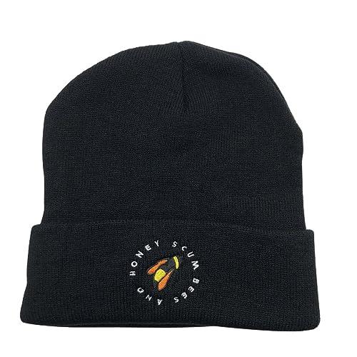 34835b5ec5f Golf Wang Warm Winter Hat Knit Beanie Skull Cap Bee Embroidered Soft  Headwear Unisex