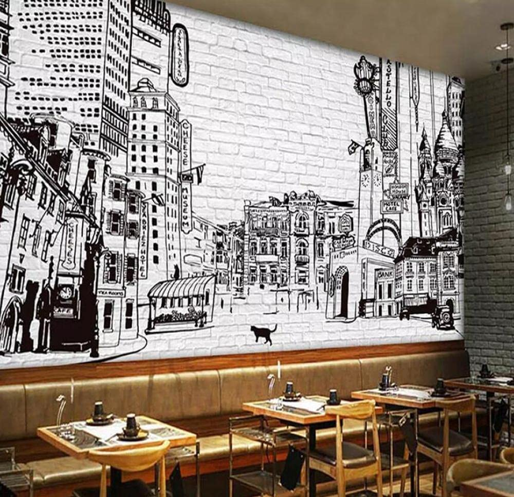 Custom Photo Wallpaper 3D Black Max 82% OFF Special sale item and Pai Wall White Building City