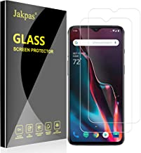 Jakpas Screen Protector for OnePlus 7, OnePlus 6T, OnePlus 7 2 Pack Tempered Glass 9H Hardness [Case Friendly][Anti-Scratch][Bubble Free] Screen Protector with Lifetime Replacement Warranty