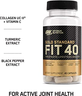 Optimum Nutrition Gold Standard FIT 40 Collagen, Vitamin C for Immune Support and Turmeric Supports Active Joint Health (45 Capsules)