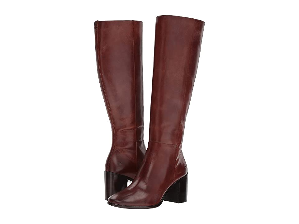 Frye Julia Tall Inside Zip (Dark Brown) Women
