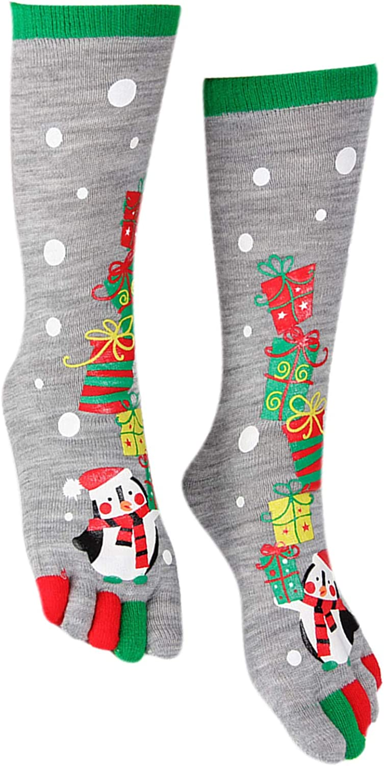 Women Girls Red Balloon Winter Knitted Stocking Novelty Mid calf Socks Leg Warmers for Christmas Cosplay Party Daily Wear