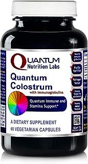 Quantum Colostrum, 60 Veg caps - Pesticide-Tested Colostrum with immunoglobulins for Quantum-State Immune and Stamina Support