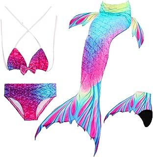 Enfants filles ensemble mermaid tail sea-maid bikini maillots de bain natation costume ensembles