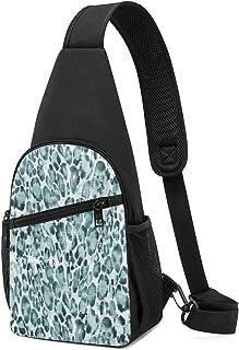 PGTry Le Parc Hide Teal Sling Bag - Mochila ligera para el hombro, mochila para el pecho, bolsa cruzada, para viajes, send...