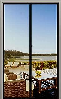 MAGZO Screen Door Magnets 34 x 82, Durable Fiberglass Door Mesh with Full Frame Hook&Loop for Front Door Fits Door Size up to 34