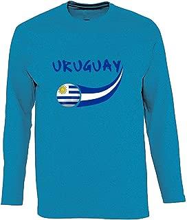 Supportershop/ Talla Fabricante: M FR: M Azul /Sudadera con Capucha Uruguay Hombre