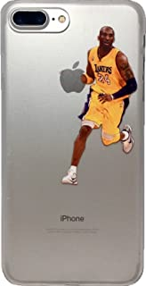 ECHC Soft TPU Basketball Case with Your Favorite Past and Present Players Compatible for iPhone (Kobe Dribble, iPhone 6)