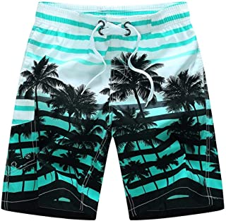 Mens Swim Trunks Quick Dry Board Shorts with Pockets Summer Beach Short