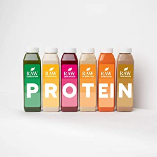 7-Day Protein Cleanse by Raw Generation® – High Protein Juice Cleanse with Dairy and Soy-Free Protein Smoothies/Lose Weigh...