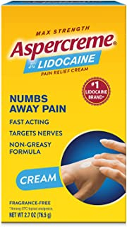 Aspercreme Pain Relieving Creme With Lidocaine Pain Relieving Cream Helps Reduce And Numb Pain From Arthritis Backache Mus...